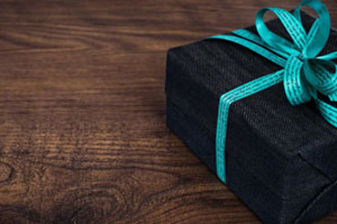 Giftbox on wood table